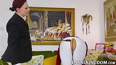 Mature woman begs her girlfriend to punish and control her