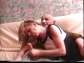 Old grandpa penis Old grandpa is cumming handjob