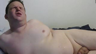 Masturbating and Cumming on my Chubby Belly