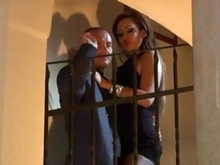Coil anal staircase Tattooed redhead - black dress seduction on staircase
