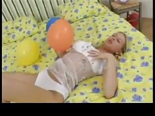 Balloon boobs Young boobs and balloons bvr