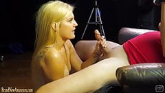 Amateur blonde on a casting couch fucked hardcore