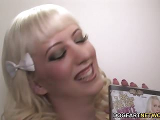 Cherry from white teens black cock Cherry torn takes a white and a black cock - gloryhole