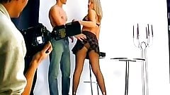 Sexy blonde fucked at photoshoot
