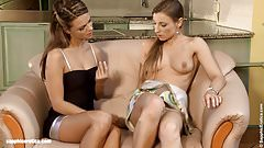 Loveseat Lusts by Sapphic Erotica - lesbian love porn with