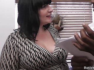 Riding cock titties flopping Busty brunette fatty rides black cock