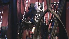 Latex Geared Suspended and Machine Fucked and Milked
