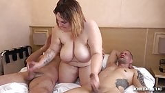 Alice, very hot French bbw fucked by husband and another guy