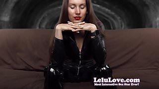 Lelu Love-Catsuit FemDom JOI Ruined Orgasm CEI