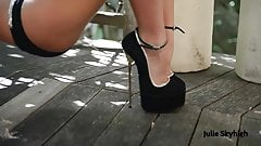 highest hooker high heels in bikini, legplay & shoeplay