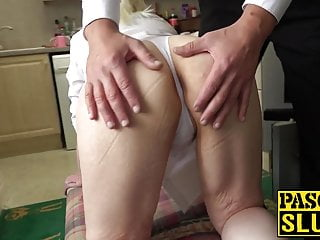 Shemales balls spat - Blonde sub skyler squirt spat on during dominating fuck