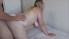 Giant ass young girlfriend gets fucked in doggy