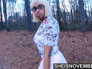 Pines pleasure resort On forest pine needles nailing my wife ebony daughter doggy