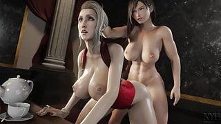 Final Fantasy Tifa and Scarlet