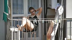 Teen neighbor on the balcony XIII