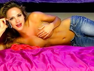 Erotic tv show best Topless beauty in jeans on erotic uk tv