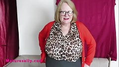 British huge tits shaved Granny in a white girdle