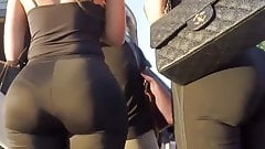 Phenomenal mega ass of the brunette and blonde