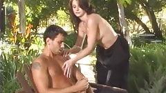 Voodoo wanks his cock in front of Noname Jane