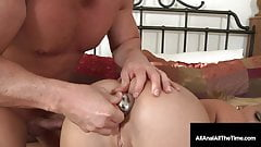 Young Blonde Teen Roxy Raye Butt Fucked In Tight Asshole!