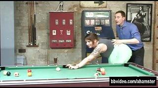 Busty german milf fuck on billiard table