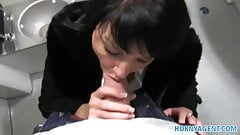 HornyAgent Penelope fucks on the train to avoid the police