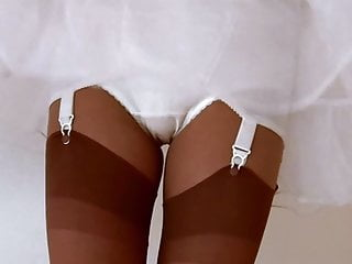Girdle panty upskirt Panty girdle and nylon stockings