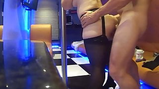Anal standing and cum in her mouth