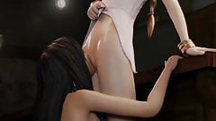 Tifa Lockhart licks Aerith Gainsborough