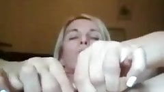 Hot Russian mature with dildo in peehole!