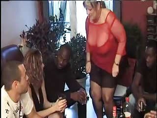 Bbw youg black guys French aunt simone introduces her niece to black guys