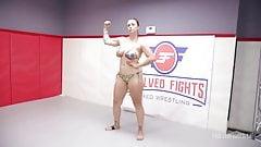 Rough Lesbian Sex Fight with Cheyenne Jewel vs Bella Rossi