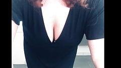 Mom slut in black dress