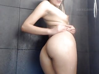 Anal in the shower homemade German girl analplay in the shower