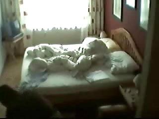 My mum is a pornstar - Hidden cam in bed room of my mum caught her masturbating