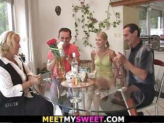 Parenting teens disabled mom Nice evening leads to threesome with his old parents