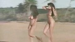 Two nudist beach babes
