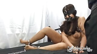 Pinay Slave gets chained and ass plugged
