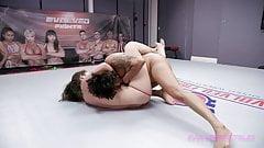 Daisy Ducati rough lesbian wrestling vs Victoria Voxxx