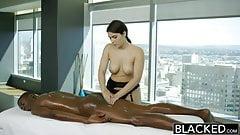 Beautiful American mature woman gives hard blowjob