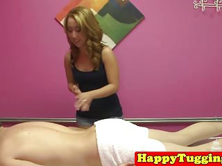 Asian jerking video - Petite asian jerking during massage