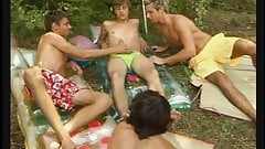 Summertime Group Suck Big Cocks and BB Fuck