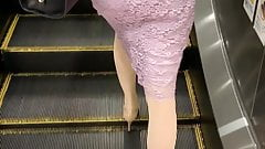 Elegant Japanese lady in metro