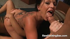 Raw Fucking Sex - Busty Kerry Louise Gets Threesome