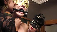 Erotic lesbian sluts have sensual fuck all over the house