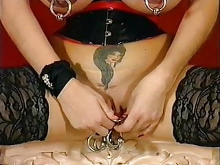 Ies busty women Busty women with heavy piercings and dildo