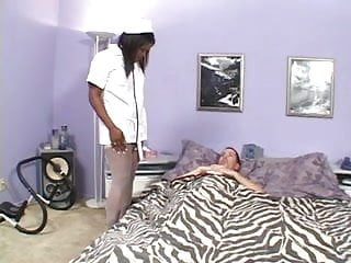 Hot hairy - Hot hairy big titted black nurse takes more than temp