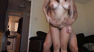 Milf slag fucked hard from behind standing