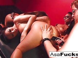 Asa akira sex vid Asa akira four girl orgy