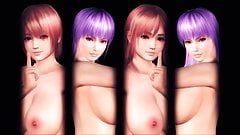 Short or Long Hair DOA Twin Sisters!